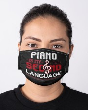 Piano lover classical musical instrument pianist  Cloth face mask aos-face-mask-lifestyle-01
