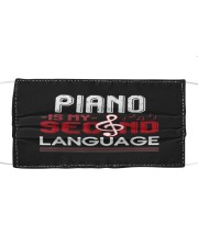 Piano lover classical musical instrument pianist  Cloth face mask front