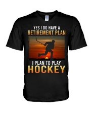 Yes I Do Have A Retirement Plan Hockey V-Neck T-Shirt tile