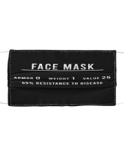 Game Face Mask Cloth face mask front
