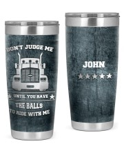 Don't judge me until-To my husband from wife 20oz Tumbler front