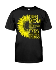 Dog Mom With Tattoos Classic T-Shirt front