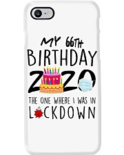 66th Birthday 66 Years Old Phone Case tile