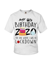 66th Birthday 66 Years Old Youth T-Shirt tile