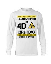 40th Birthday 40 Years Old Long Sleeve Tee thumbnail