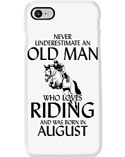 An Old Man Who Loves Riding And Was Born August Phone Case thumbnail