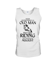 An Old Man Who Loves Riding And Was Born August Unisex Tank thumbnail