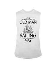Never Underestimate Old Man Loves Sailing May Sleeveless Tee thumbnail