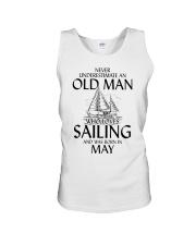 Never Underestimate Old Man Loves Sailing May Unisex Tank thumbnail