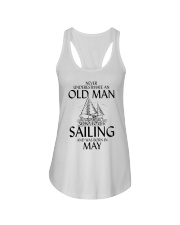 Never Underestimate Old Man Loves Sailing May Ladies Flowy Tank thumbnail