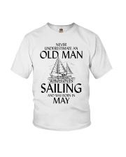 Never Underestimate Old Man Loves Sailing May Youth T-Shirt thumbnail