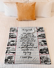"Trucker to my wife Small Fleece Blanket - 30"" x 40"" aos-coral-fleece-blanket-30x40-lifestyle-front-04"