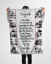 "Trucker to my wife Small Fleece Blanket - 30"" x 40"" aos-coral-fleece-blanket-30x40-lifestyle-front-14"