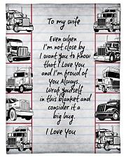 "Trucker to my wife Small Fleece Blanket - 30"" x 40"" front"