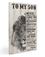 To My Son From Mom 20x30 Gallery Wrapped Canvas Prints front