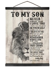 To My Son From Mom 16x20 Black Hanging Canvas thumbnail