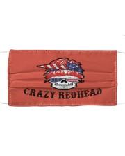 Crazy Redhead Skull Cloth face mask thumbnail