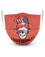 Crazy Redhead Skull 3 Layer Face Mask - Single front