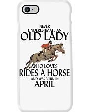 Never Underestimate Old Lady Rides Horse April Phone Case thumbnail