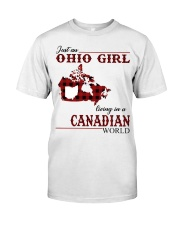 Just An Ohio Girl In Canadian World Classic T-Shirt front