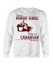 Just An Ohio Girl In Canadian World Crewneck Sweatshirt thumbnail