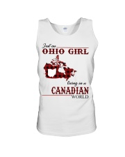 Just An Ohio Girl In Canadian World Unisex Tank thumbnail