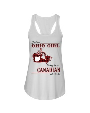 Just An Ohio Girl In Canadian World Ladies Flowy Tank thumbnail