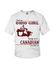 Just An Ohio Girl In Canadian World Youth T-Shirt thumbnail