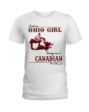 Just An Ohio Girl In Canadian World Ladies T-Shirt thumbnail