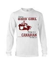 Just An Ohio Girl In Canadian World Long Sleeve Tee thumbnail