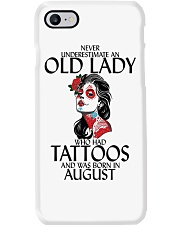 Never Underestimate Old Lady Tattoos August Phone Case thumbnail