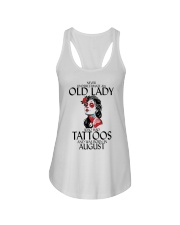 Never Underestimate Old Lady Tattoos August Ladies Flowy Tank thumbnail