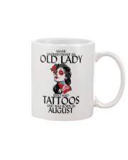 Never Underestimate Old Lady Tattoos August Mug thumbnail