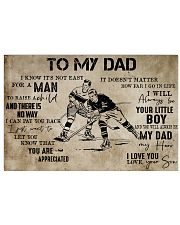 To My Dad From Son hockey 24x16 Poster front