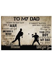 To My Dad From Son baseball 24x16 Poster front
