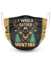 I Would Rather Be Hunting 2 Layer Face Mask - Single front