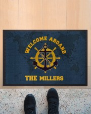 """Welcome aboard personalized Doormat 22.5"""" x 15""""  aos-doormat-22-5x15-lifestyle-front-10"""
