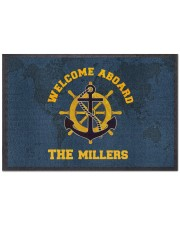 """Welcome aboard personalized Doormat 22.5"""" x 15""""  front"""