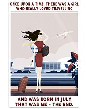 Girl Loved Travelling Born In July 24x36 Poster front