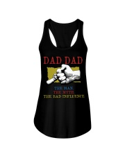 DAD DAD The Man The Myth The Bad Influence Ladies Flowy Tank tile