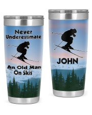 Skiing Never Underestimate Personalized Gift 20oz Tumbler front