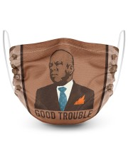 good trouble 2 Layer Face Mask - Single front