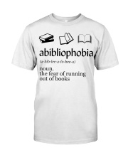 Abibliophobia Classic T-Shirt front
