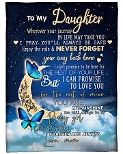 """To My Daughter Wherever Your Journey Large Fleece Blanket - 60"""" x 80"""" front"""