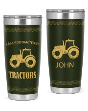 Farmers Easily Distracted By Tractor Personalized  20oz Tumbler front