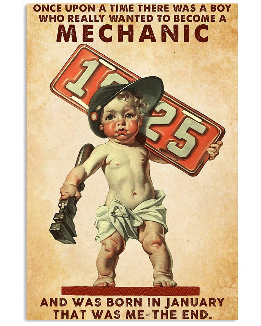 January Mechanic 24x36 Poster