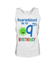 Quarantined On 9th My Birthday 9 years old Unisex Tank thumbnail