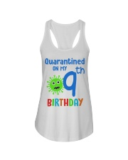 Quarantined On 9th My Birthday 9 years old Ladies Flowy Tank thumbnail