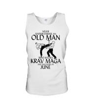 Never Underestimate Old Man Krav maga June Unisex Tank thumbnail