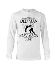 Never Underestimate Old Man Krav maga June Long Sleeve Tee thumbnail